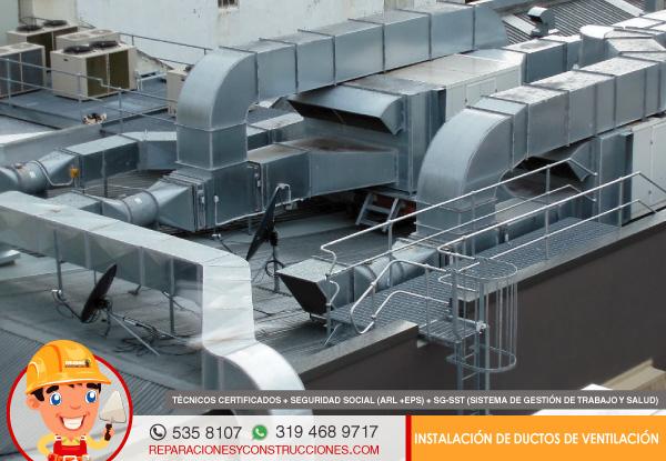 Tipos de ductos de ventilacion