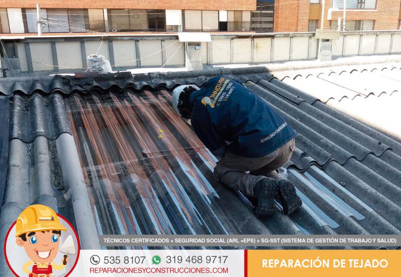 Reparación e instalación de tejados, cubiertas y marquesinas, arreglo