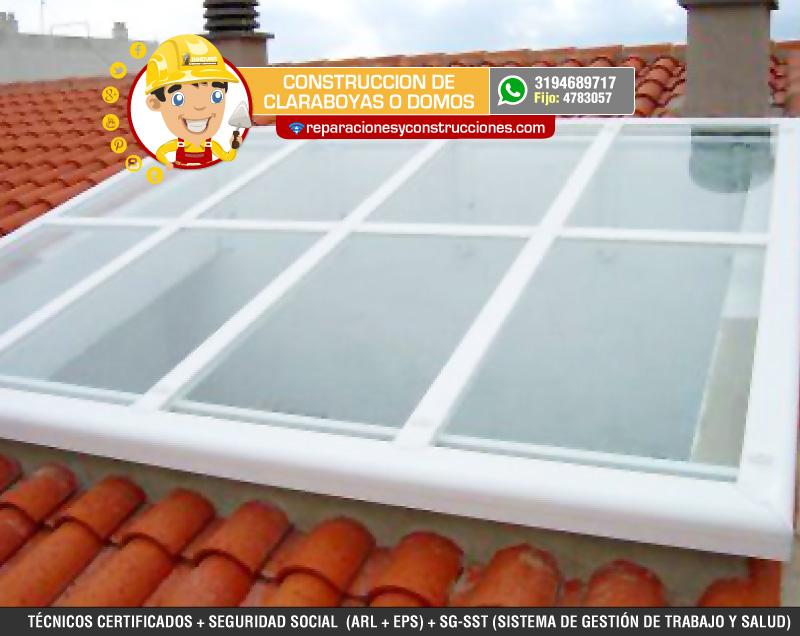 Instalaci n de domos y claraboyas para tejados o cubiertas for Claraboyas para techos