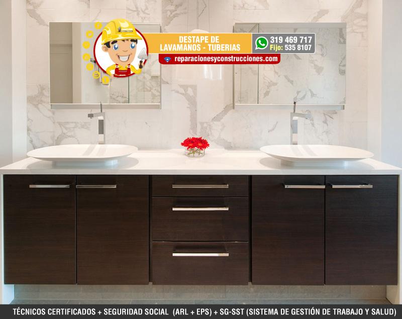 Destape de lavamanos mantenimiento e instalaci n lavamanos for Lavamanos sin instalacion