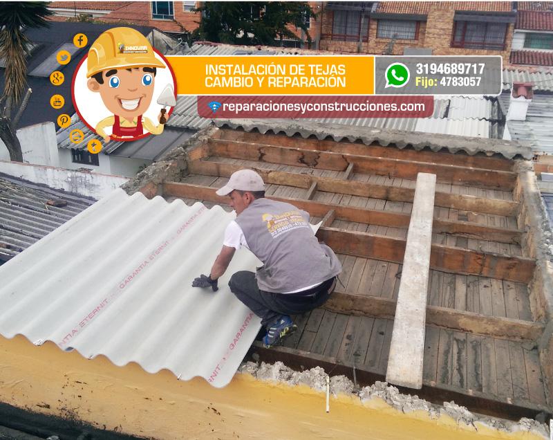Reparaci n de tejas y tejados arreglo de goteras en tejas for Tejas livianas para techos